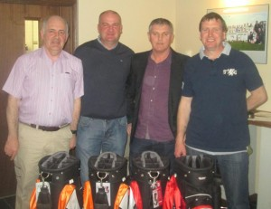 1st Prize Winner - Team Captain Jody Cooke with Gerry Galvin, John Hamiltion and Martin Murray