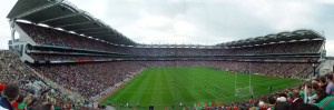 The view from Roinn B2, on the Hill Terrace, for the 2004 All-Ireland Football Final.